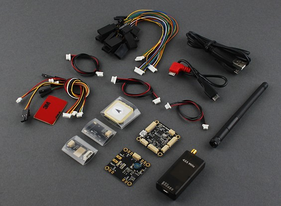 Micro HKPilot Mega Master Set With OSD, GPS, Telemetry Radio, PDB/BEC/Power Sensor  (433Mhz) (APM)