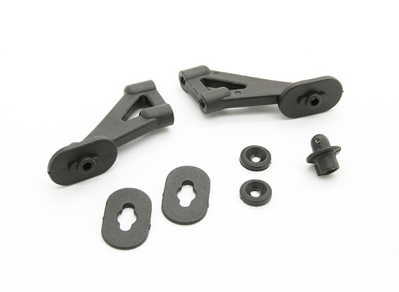 Fibre Reinforced Front Body Mount & Wing Bracket - BZ-444 Pro 1/10 4WD Racing Buggy