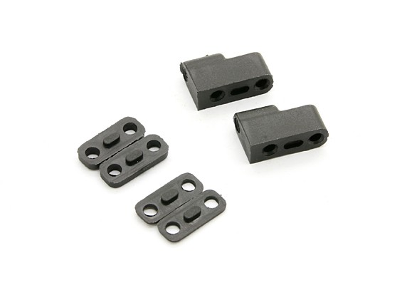 Servo Mount (2pcs) - BSR Racing BZ-444 1/10 4WD Racing Buggy