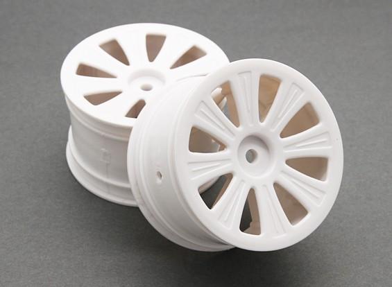 Rear Wheel (2pcs) - BSR Racing BZ-444 1/10 4WD Racing Buggy