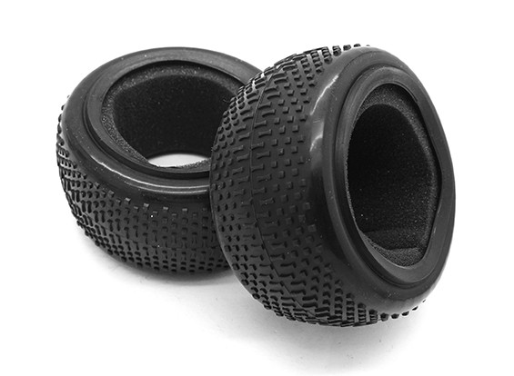 Front Tires w/Insert (2pcs) - BSR Racing BZ-444 1/10 4WD Racing Buggy
