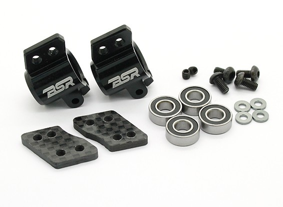 Option Alu. Rear Hub Set - BSR Racing BZ-444 or BZ-444 Pro 1/10 4WD Racing Buggy