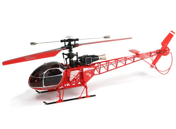 WLToys V915 2.4G 4CH Helicopter (Ready To Fly) - Red