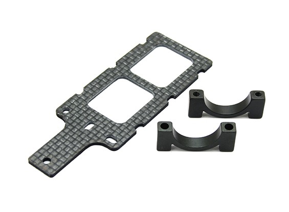 Carbon FPV Transmitter Mount with 16mm Boom Clamp