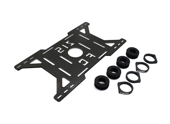 Carbon Multi-Rotor Battery Mount with Rubber Damping Suits DJI 800