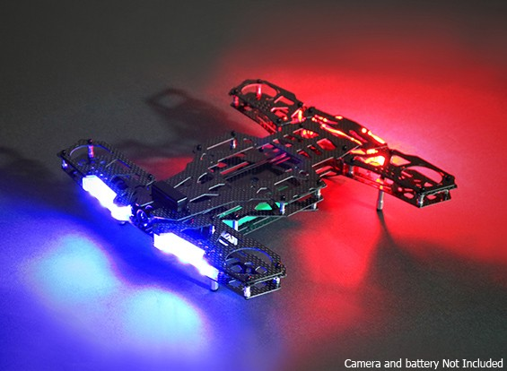 Quanum NEON 250 Carbon Race Frame Kit With LEDs