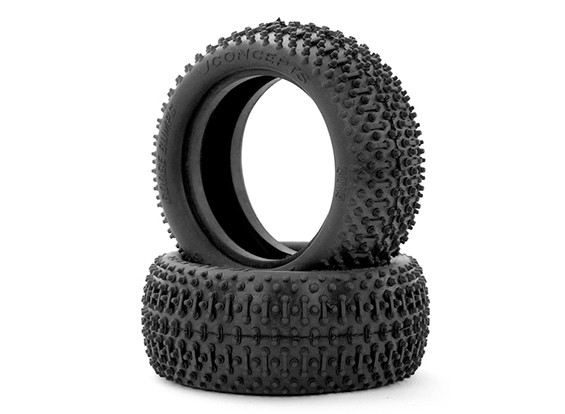 JCONCEPTS Goose Bumps 1/10th 4WD Buggy Front Tyres - Green (Super Soft) Compound