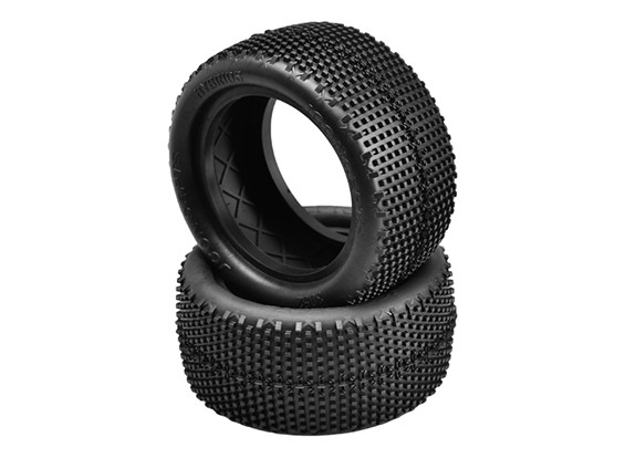 JCONCEPTS Hybrids 1/10th Buggy Rear Tires - Green (Super Soft) Compound