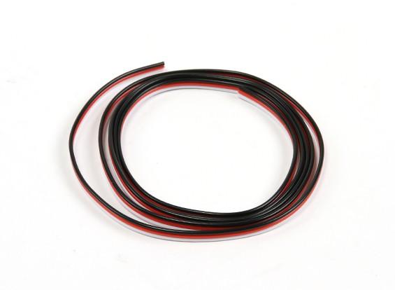 Flat 26AWG servo wire 1mtr (R/B/W)