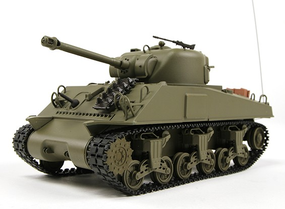 US-M4A3 Sherman Medium RC Tank RTR w/ Tx