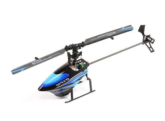 WL Toys V933 Skylark CCPM 6 Channel Flybarless Helicopter Ready to Fly 2.4GHz (Blue)
