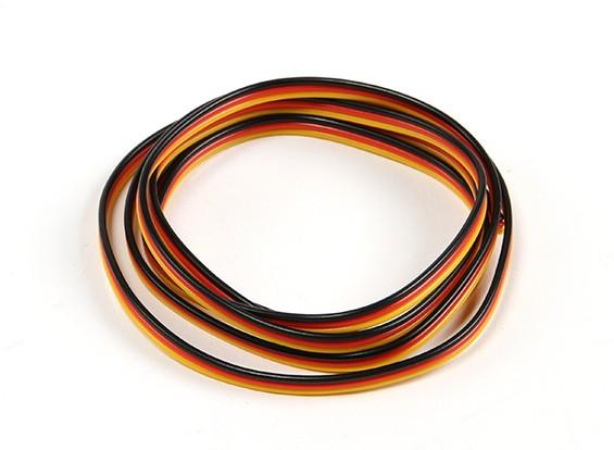 Flat 26AWG servo wire 2 mtr (R/B/Y)