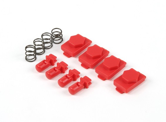 Hexmag Airsoft HexID Latchplates / Followers 4pcs Set (LAVA Red)