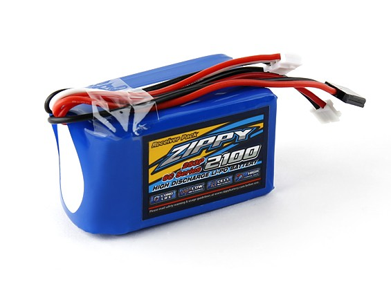 ZIPPY Flightmax 2100mAh 2S3P 7.4v Receiver Pack