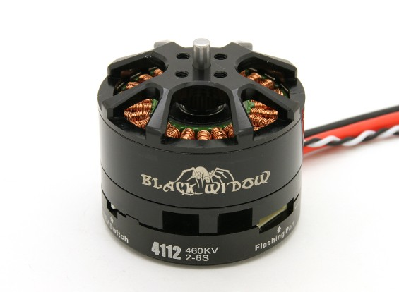 Black Widow 4112-460Kv With Built-In ESC CW/CCW