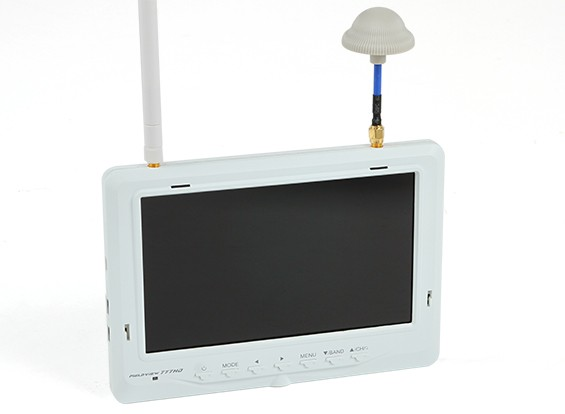 7 Inch 1024 x 600 32Ch 5.8GHz FPV LCD Monitor w/Auto Search and Div Rx Fieldview 777 HD (US Plug)