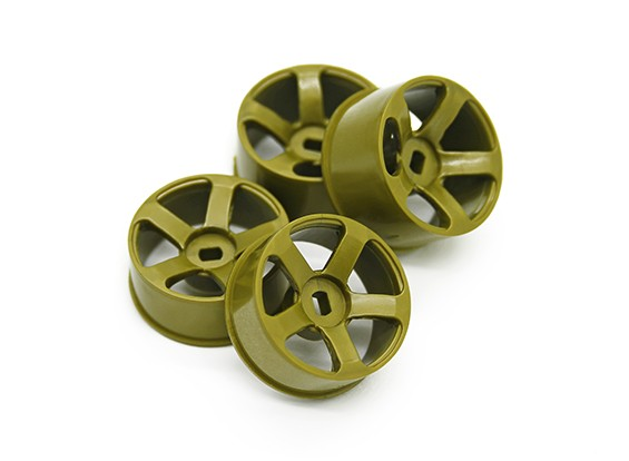 5 Spoke Gold Rim Set (F/R)- Turnigy TZ4 AWD/Drift Spec