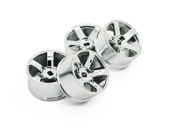 5 Spoke Chrome Rim Set (F/R)- Turnigy TZ4 AWD/Drift Spec