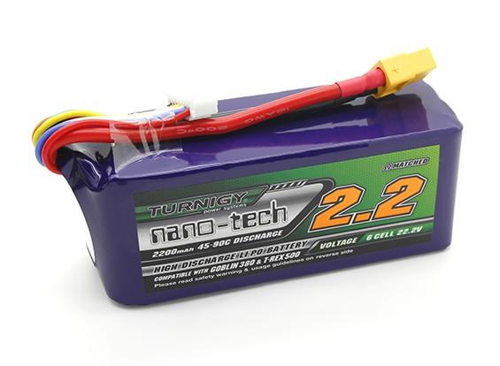 Turnigy nano-tech 2200mah 6S 45~90C LiPoly Battery
