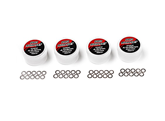TrackStar Pro Shim Set - Inner 4mm (10pcs)