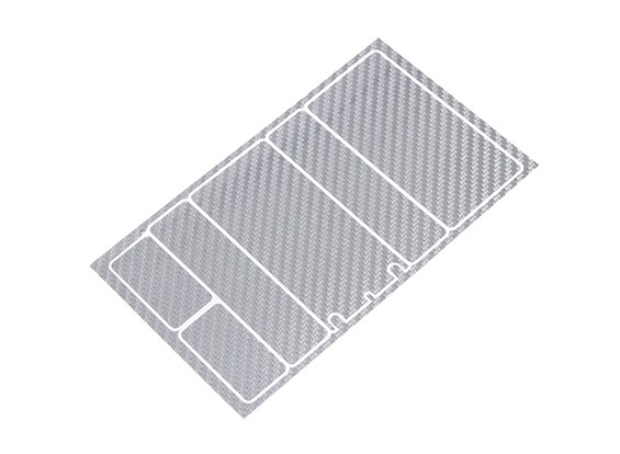 TrackStar Decorative Battery Cover Panels for 2S Shorty Pack Silver Carbon Pattern (1 Pc)