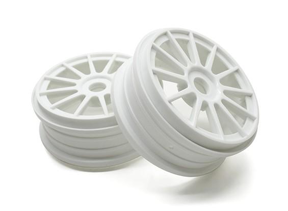Basher 1/8 Scale Rally 12 Spoke White Wheel Rim 17mm Hex (2pc)