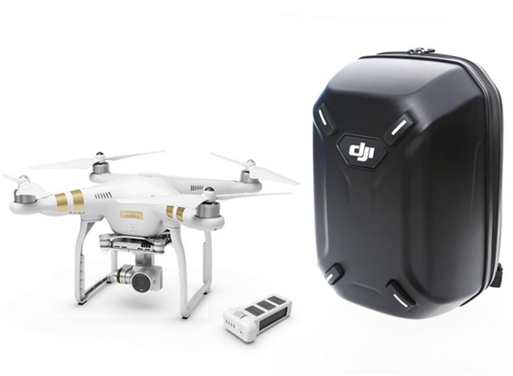 DJI Phantom 3 Professional With Extra Battery and Hardshell Backpack