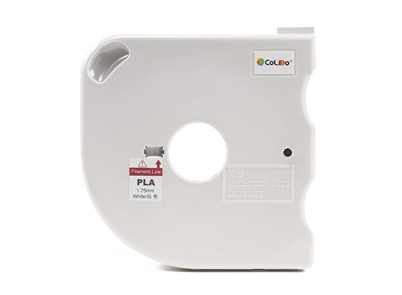 CoLiDo 3D Printer Filament 1.75mm PLA 500g Spool w/Cartridge (White)