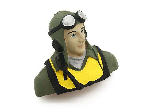 WW2 Pilot Figure 1/10 (H57x W70 x D38mm)