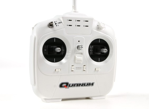 Quanum i8 8ch 2.4GHZ AFHDS 2A Digital Proportional Radio System Mode 1 (White)