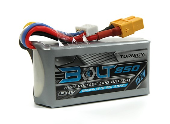 Turnigy Bolt 850mAh 4S 15.2V 65~130C High Voltage Lipoly Pack (LiHV)
