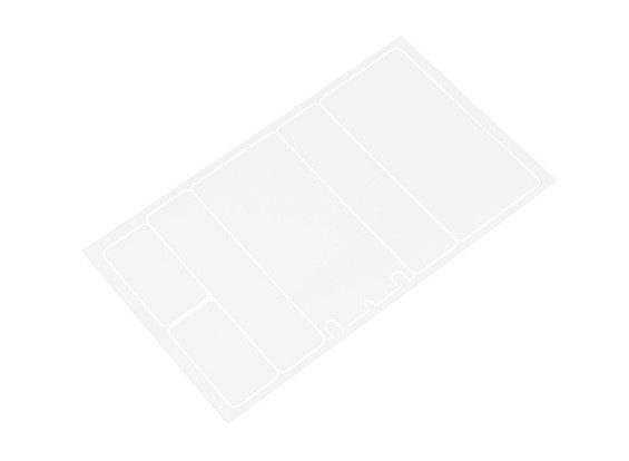 TrackStar Decorative Battery Cover Panels for 2S Shorty Pack Flat Transparency Pattern (1 pc)