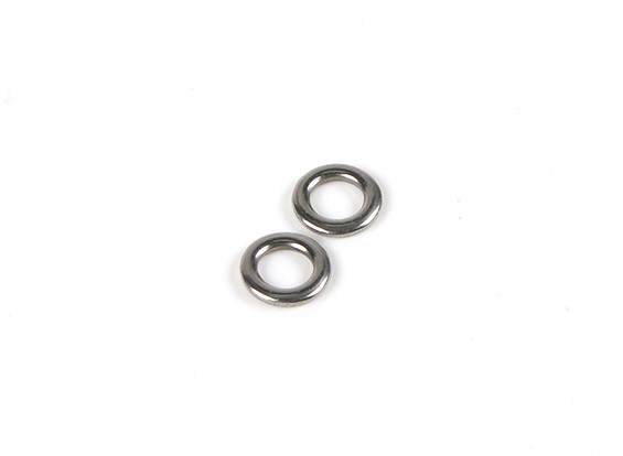 HydroPro Affinity RG65 Racing Yacht - Mainsheet Metal Rings (2pcs)