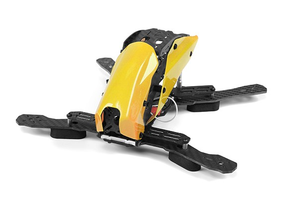 Tarot TL250H Space Through Machine FPV Half Carbon Fiber (Yellow) Frame Only
