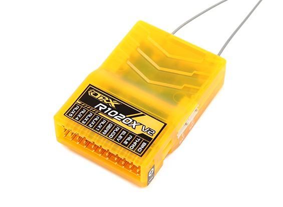 OrangeRx R1020X V2 10Ch 2.4GHz DSM2/DSMX Compatibility Full Range Rx w/Sat, Div Ant, F/Safe & SBUS