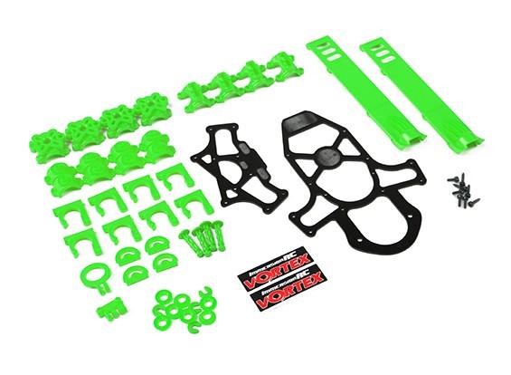 ImmersionRC - Vortex 285 Crash Kit 1, Plastic Parts -  Lime Green