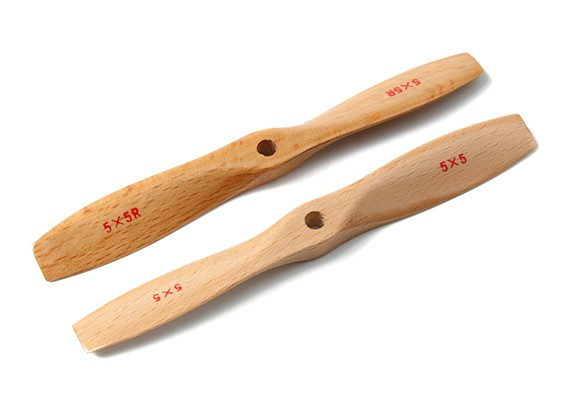 Bullnose Wood Propeller 5x5 (CW/CCW) (1pair)