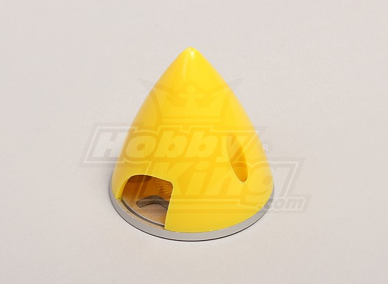 Nylon Spinner with Alloy Backplate 45mm Yellow