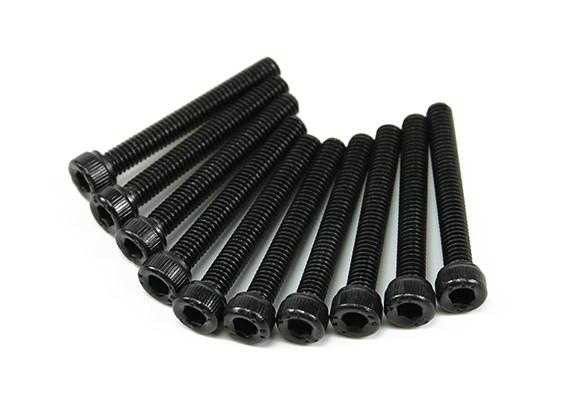 Screw Socket Head Hex M4 x 30mm Machine Steel Black (10pcs)