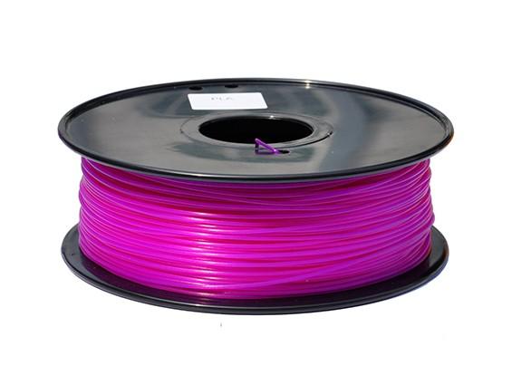 HobbyKing 3D Printer Filament 1.75mm PLA 1KG Spool (Bright Purple)