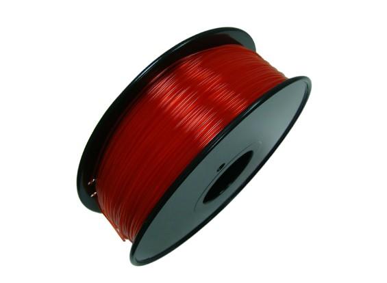 HobbyKing 3D Printer Filament 1.75mm PLA 1KG Spool (Bright Red)