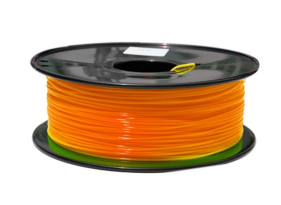 HobbyKing 3D Printer Filament 1.75mm PLA 1KG Spool (Fluorescent Orange)