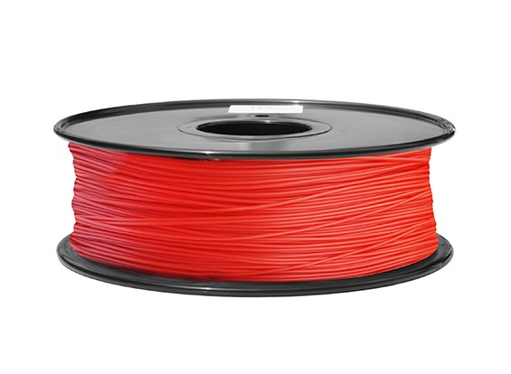 HobbyKing 3D Printer Filament 1.75mm ABS 1KG Spool (Red P.186C)