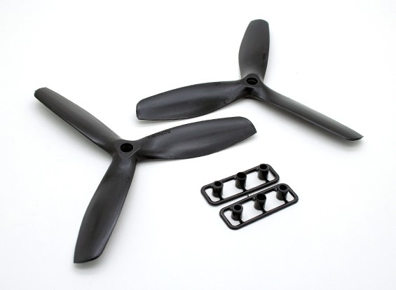New Design GemFan 5050 GRP 3-Blade Propellers CW/CCW Set Black (1 Pair)
