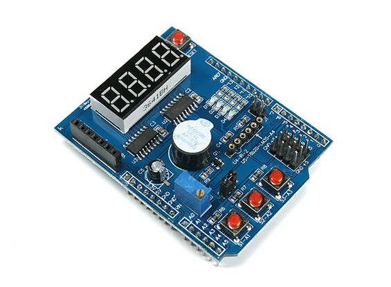 Multi-function Developer Shield for Arduino Uno/Leonardo