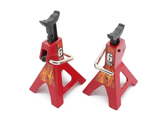 1/10 Scale 6 Ton Jack Stands - Red