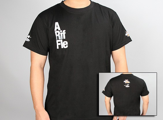 flitetest T-Shirt - A Rifle ARF - Black (Large)