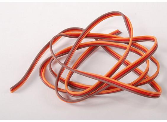 Flat 26AWG servo wire 1mtr (R/O/B)