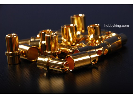 8MM gold connectors (12 pack)