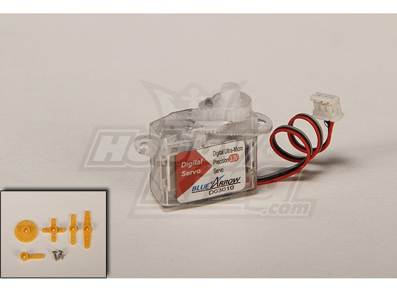 Single Cell Digital Ultra-Micro Servo 20T 0.16kg / 0.10sec / 3.2g
